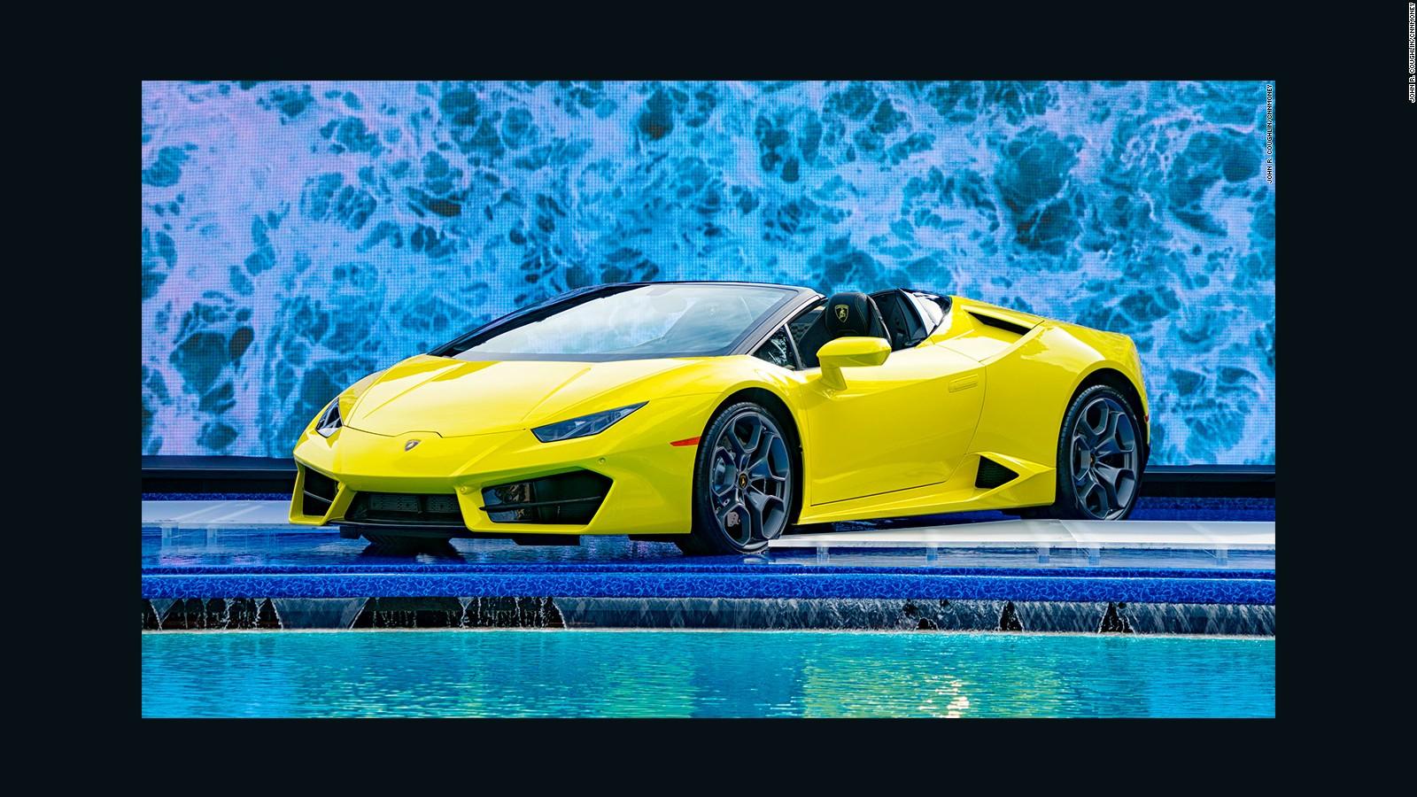 Lamborghini Unveils Soft Top Huracan Spyder   CNN Video