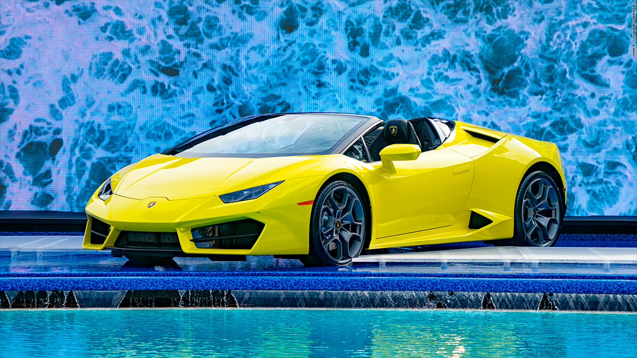 Genial Lamborghini Unveils Soft Top Huracan Spyder   CNN Video
