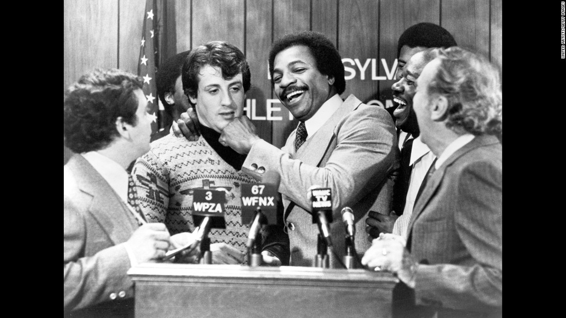 "Carl Weathers played the cocky champ, Apollo Creed. ""Rocky"" was the ultimate underdog story. And so was Stallone at the time. <a href=""http://www.nytimes.com/packages/html/movies/bestpictures/rocky-ar.html"" target=""_blank"">Speaking to The New York Times</a> in November 1976, he said: ''You know, if nothing else comes out of that film in the way of awards and accolades, it will still show that an unknown quantity, a totally unmarketable person, can produce a diamond in the rough, a gem. And there are a lot more people like me out there, too, people whose chosen profession denies them opportunity."""