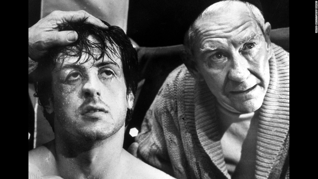 "Burgess Meredith played Mickey, Rocky's cantankerous trainer. ""I truly feel without his participation in the film, it would never have had its emotion core,"" Stallone said after Meredith's death in 1997."