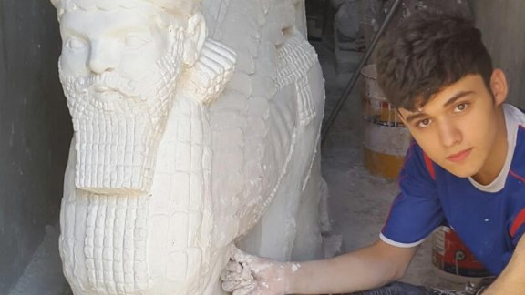 Thabit has been sculpting immaculate statues that resemble some of the Assyrian artifacts destroyed by ISIS