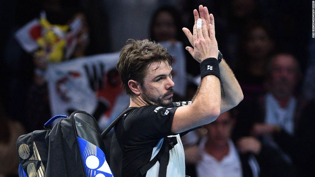 In the evening match, Stan Wawrinka proved he is the man for the big occasion once again, taking a closely-fought first set from Marin Cilic in the tie-break.