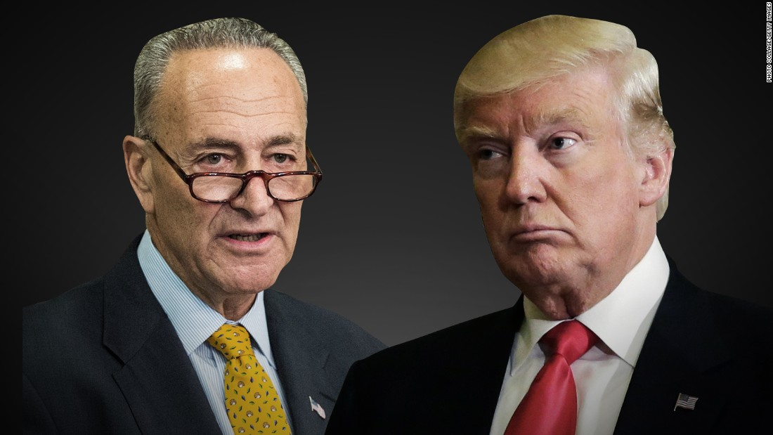 Image result for images of donald trump and chuck schumer