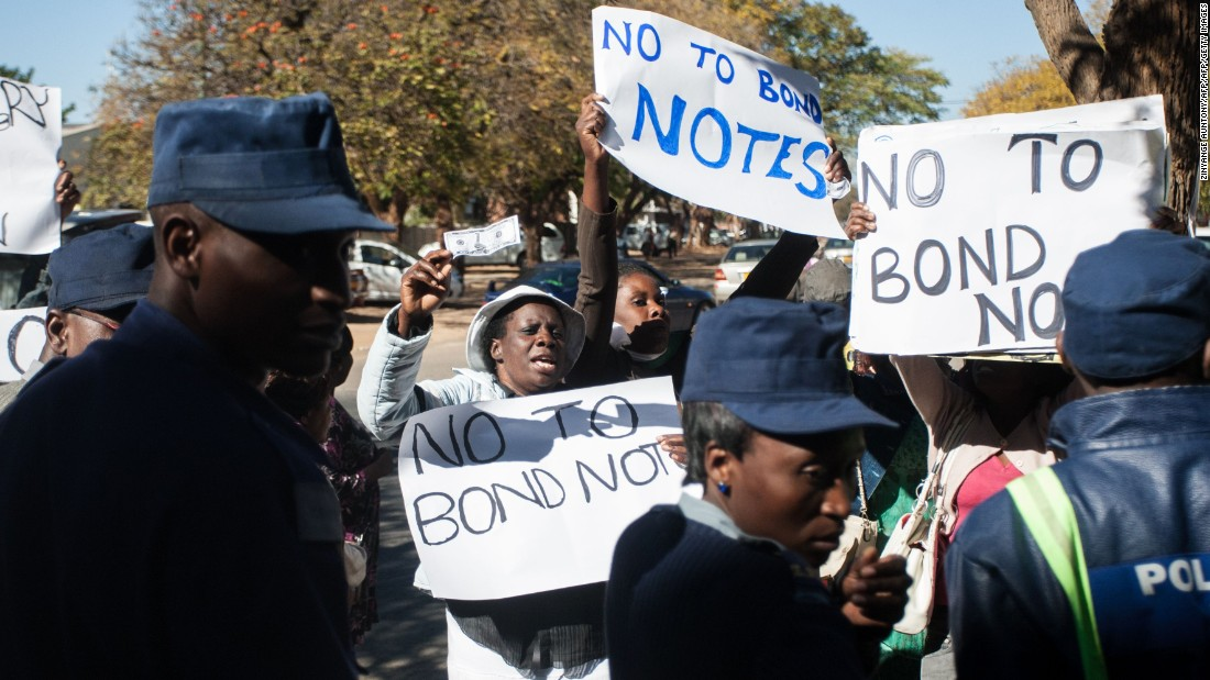 In recent months, Zimbabwe has been hit by a series of street protests, triggered by an economic crisis that has left banks short of cash and the government struggling to pay its workers.