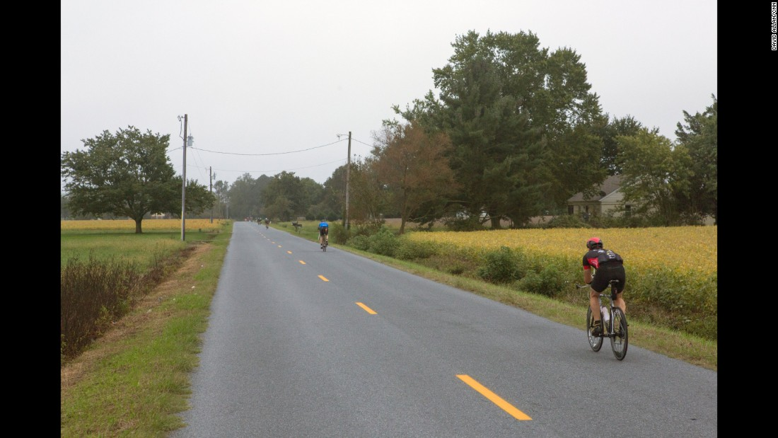 The bike ride extends into an outer loop around Cambridge that includes views of farmland and wooded marsh.
