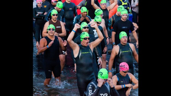 In 2014, the Ironman Maryland had ideal conditions for the start of the race.