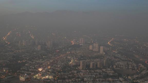 A view of smog-enveloped Tehran on November 14, 2016.