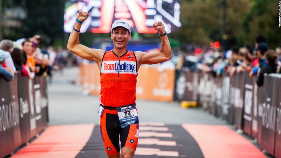 The finish line of Ironman is emotional for many.