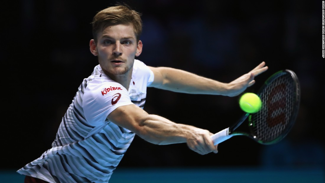 Coming into the match having never beaten the Serb, Goffin had to be on top form to have any chance of producing a similar upset. But, broken twice in his first three service games, Monfils' replacement didn't offer much of a threat.