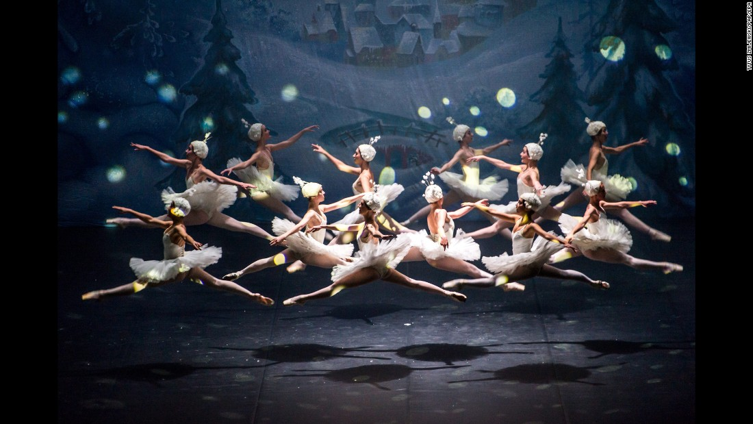 "Dancers from the Moscow Ballet of Classical Choreography perform on stage during the premiere of ""The Nutcracker"" in Bydgoszcz, Poland, on Tuesday, November 15."