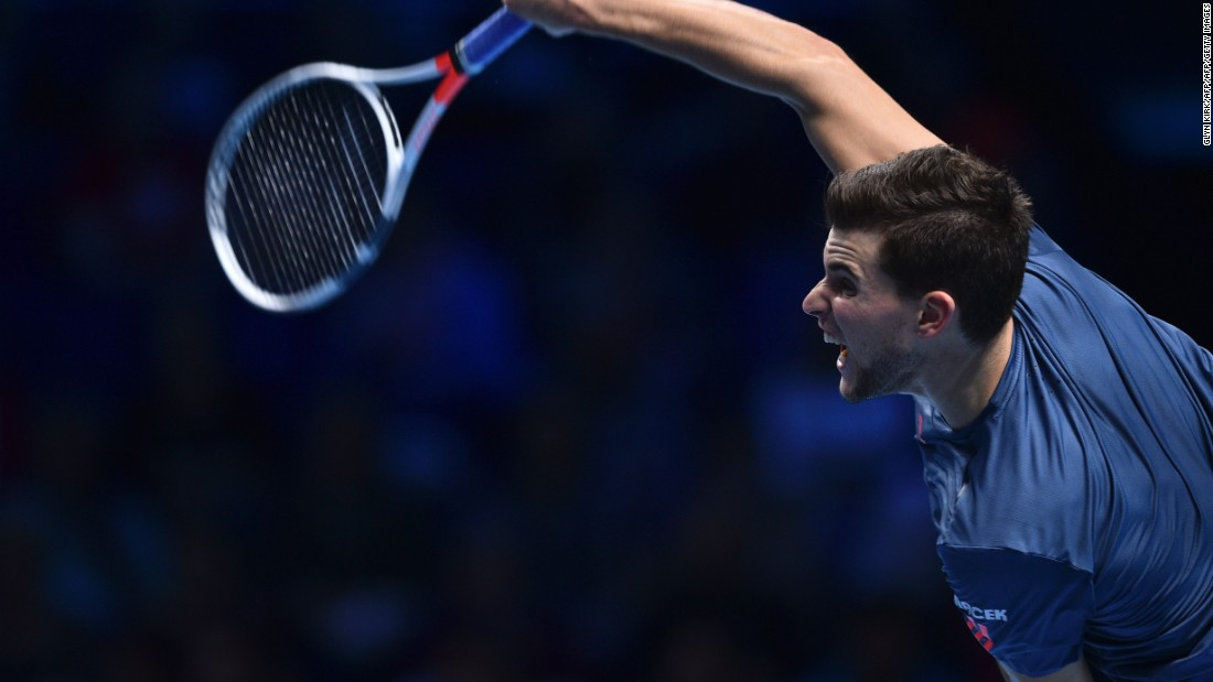 In Thursday's evening match, Dominic Thiem faced Milos Raonic with both men attempting to reach the semifinals of the competition for the first time.