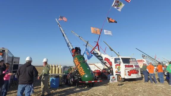 An air cannon at a Punkin Chunkin event