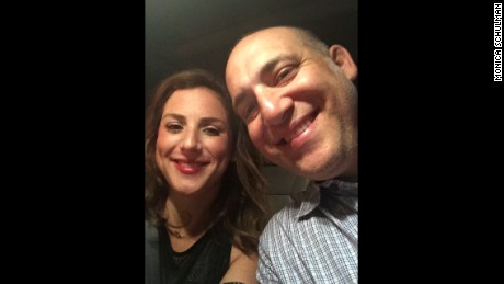 Monica Schulman with her husband, Jeremy, recently enjoying a night out together.