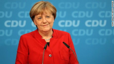 German Chancellor and Chairwoman of the German Christian Democrats (CDU) Angela Merkel speaks to the media following meetings of the CDU leadership on November 20 in Berlin, Germany. Merkel announced she will run for a fourth term in office in federal elections scheduled for next year.
