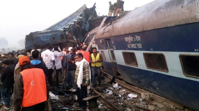 Train derailment kills over 100 in India