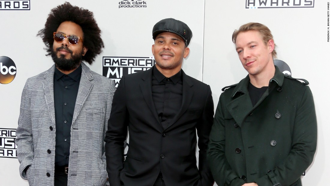 Jillionaire, Walshy Fire and Diplo of musical group Major Lazer