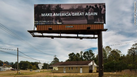 Political action committee For Freedoms put up this billboard in Pearl, Mississippi.