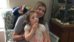 Abby Muszynski and her older sister, Christina.