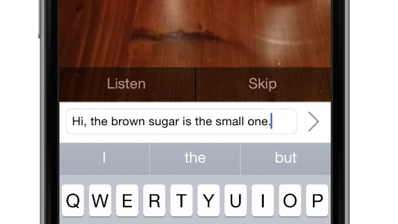 BeSpecular is an app that allows the visually impaired to submit requests such as asking which sugar jar to pick. The volunteer at the other end of the line replies using a text or audio message, which is read out to the blind person.