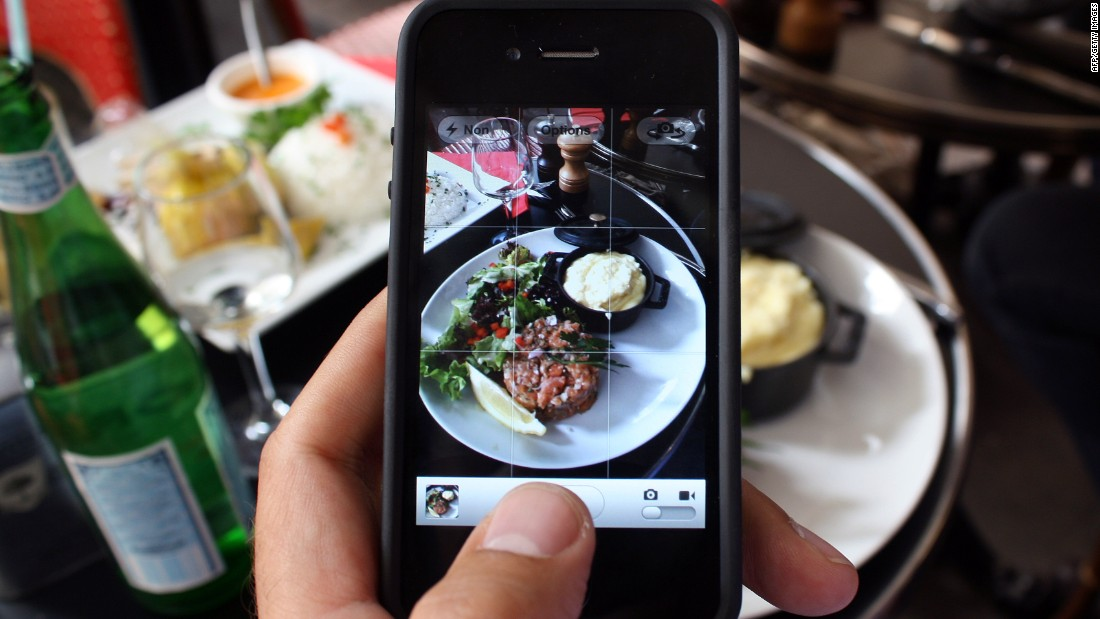 The users can snap a picture of anything, such as a restaurant menu or dish.