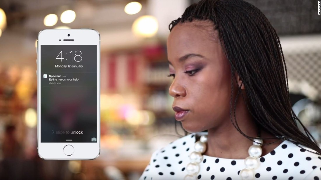 "<a href=""https://www.bespecular.com/"" target=""_blank"">BeSpecular</a>, an app from South Africa, allows volunteers to remotely assist blind people. The app uses an algorithm to connect the right people, those similar in age and physical location. <br /><br /><a href=""http://edition.cnn.com/2016/11/24/africa/be-specular-app-helps-the-blind/index.html"">Read more</a> about this app<a href=""http://edition.cnn.com/2016/11/24/africa/be-specular-app-helps-the-blind/index.html"">. </a>"