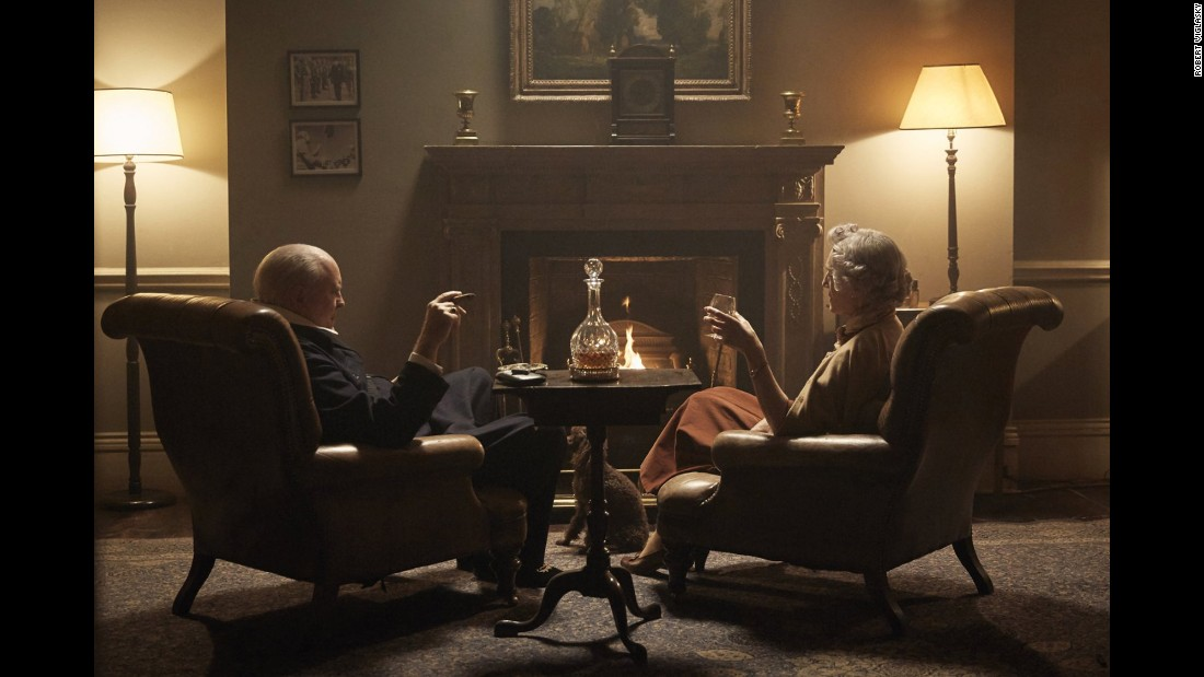 "Speaking of binge watching, John Lithgow and Harriet Walter star as Sir Winston Churchill and his wife Clementine Churchill in Netflix's latest original series <strong>""The Crown."" </strong>"