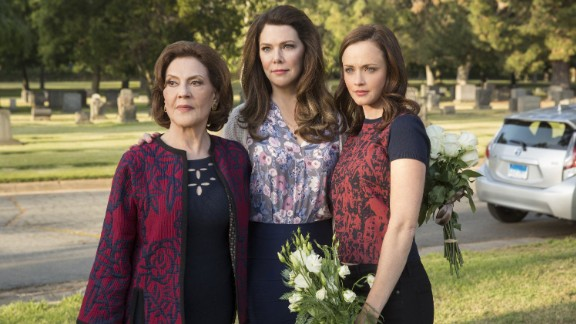 "Kelly Bishop, Lauren Graham and Alexis Bledel star as Emily, Lorelai and Rory Gilmore in ""Gilmore Girls: A Year in the Life."""