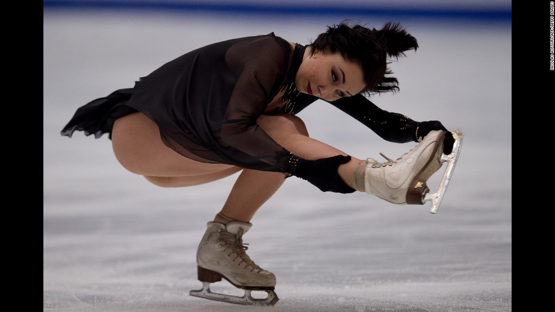 Russian figure skater Elizaveta Tuktamysheva performs at the Grand Prix event in Beijing on Saturday, November 19. She finished in third place.