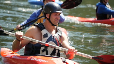 He thinks kayaks can help fight cancer