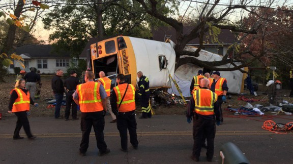 The bus was traveling so fast that it wrapped around this tree upon impact.