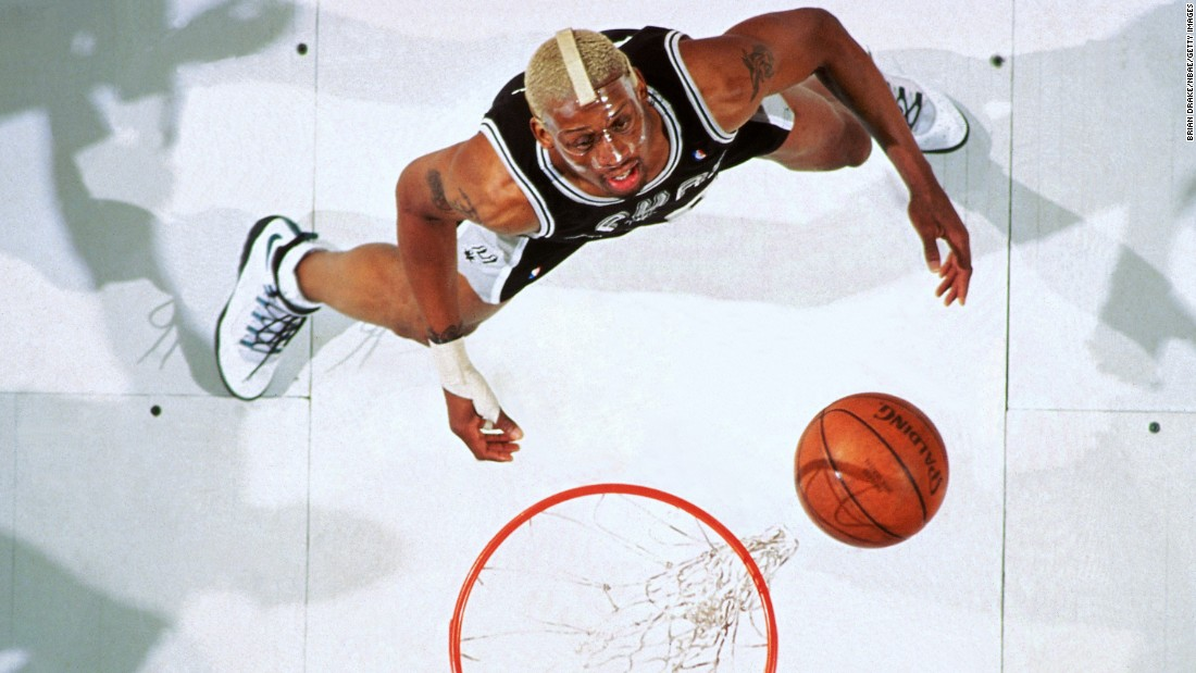 Rodman was traded to the San Antonio Spurs in 1993, but he continued to dominate the boards. From 1992 to 1998, no NBA player averaged more rebounds per game than Rodman. It was in San Antonio where Rodman started dyeing his hair different colors, showing the world a different side of his personality.