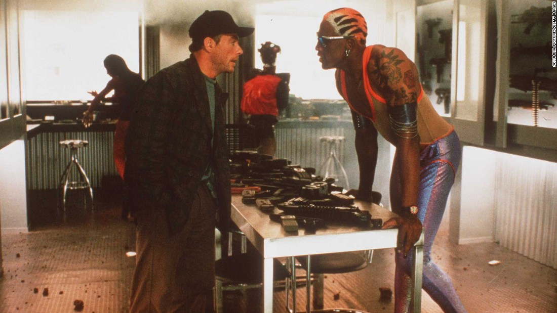 "Rodman stars in the 1997 action movie ""Double Team,"" opposite Jean-Claude Van Damme. He also branched out to pro wrestling for a short time."
