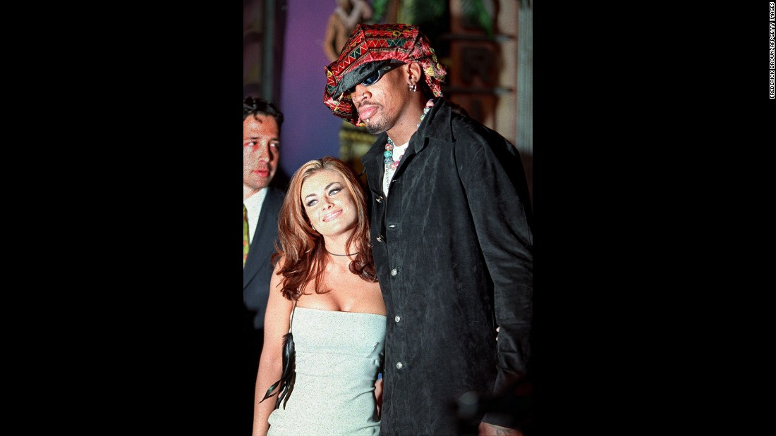 Rodman was married to actress Carmen Electra from 1998-99. He also dated Madonna for a brief time. He's been divorced three times.