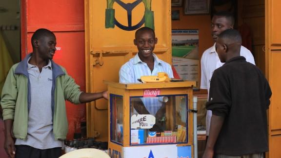 A mobile shop in Kabale, Uganda