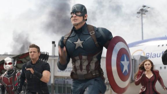 """Captain America: Civil War"" :  Anthony Mackie, Paul Rudd, Jeremy Renner, Chris Evans, Elizabeth Olsen and Sebastian Stan star are a band of super heroes in this Marvel hit. (Netflix)"