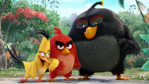 """""""The Angry Birds Movie"""": Jason Sudeikis, Danny McBride, and Josh Gad voice characters in this animated film based on the popular game. (Netflix)"""