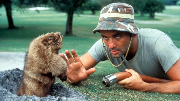 """""""Caddyshack"""" : The gopher is as big a star as Bill Murray in this 1980 comedy, which is one of Murray's most famous films. (Amazon Prime)"""