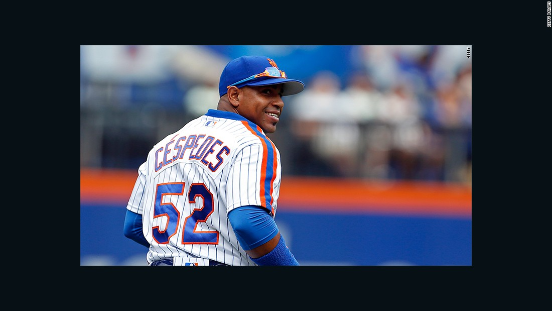 The New York Mets' Cuban-born center fielder has missed the playoffs just once in his five-year MLB career, and that's no coincidence. The 31-year-old slugger is known for his flashy cars -- which he can accumulate with ease given his four-year $110 million deal.