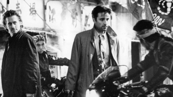 """""""Black Rain"""" : Michael Douglas and Andy Garcia star in a film about two cops who find themselves ensnared in a war between the Japanese mob. (Hulu)"""