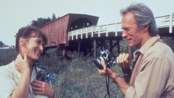 """""""The Bridges of Madison County"""" : Meryl Streep and Clint Eastwood are soul mates in this drama based on a 1992 best-selling novel by Robert James Waller. (Hulu)"""