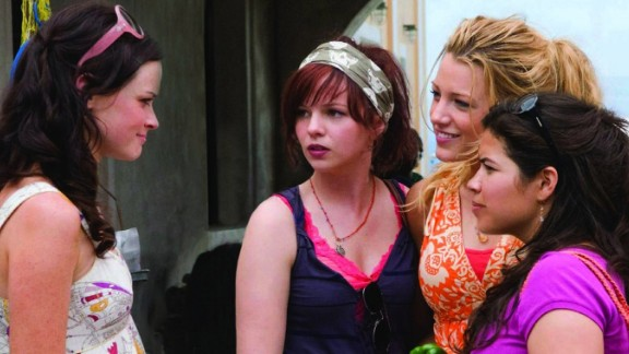 """""""The Sisterhood of the Traveling Pants 2"""" : Alexis Bledel, Blake Lively, Amber Tamblyn, and America Ferrera reunite for the sequel of the 2005 original. This time around the group are college students brought together by some magical pants. (HBO Now)"""