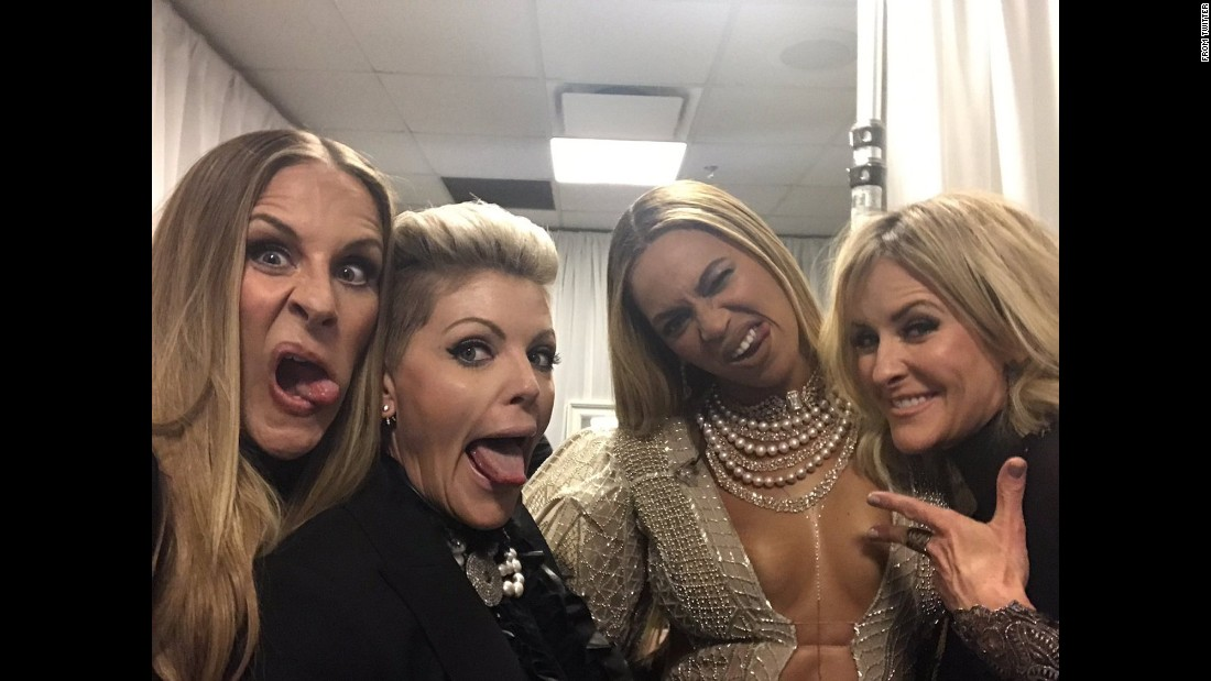 "The Dixie Chicks and Beyonce take a selfie after <a href=""http://www.cnn.com/2016/11/02/entertainment/beyonce-performs-2016-cma-awards/"" target=""_blank"">their surprise performance together</a> at the CMA Awards. ""I can finally talk about one of the greatest weeks of my life!"" <a href=""https://twitter.com/1NatalieMaines/status/794089128547717120"" target=""_blank"">tweeted Natalie Maines,</a> the Dixie Chicks' lead singer, on Thursday, November 3. ""Thank you @Beyonce ! You slay. All day!"""