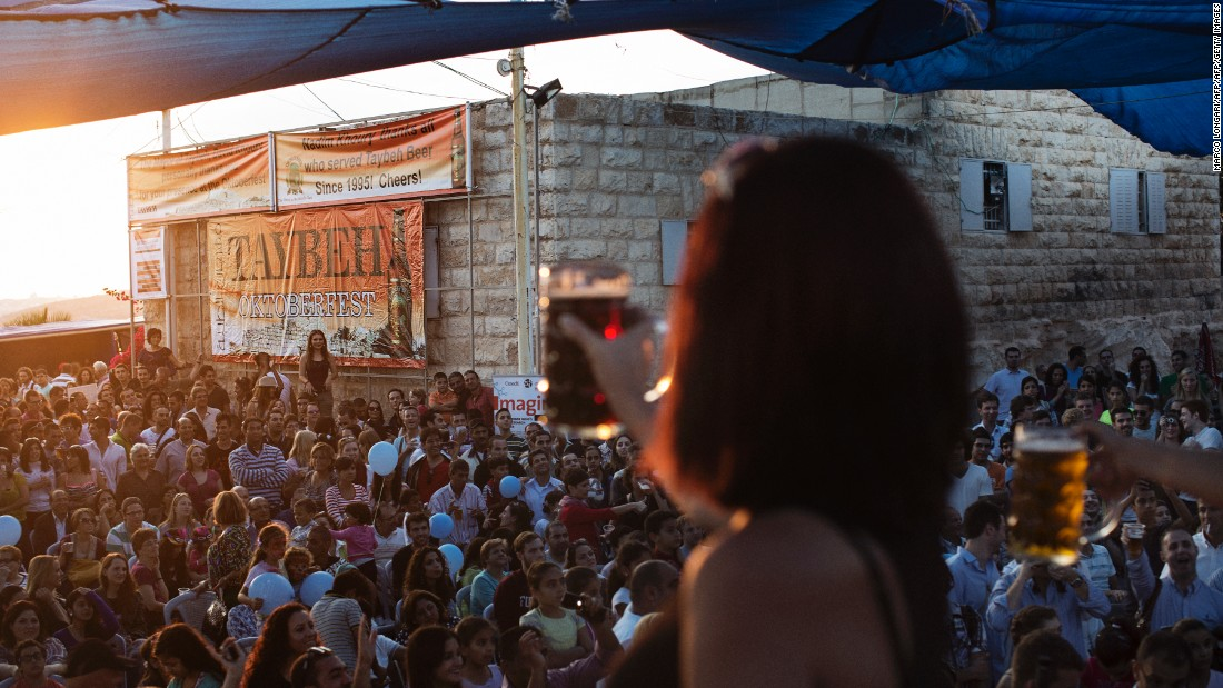 The Christian village of Nablus, near Ramallah, plays host to a German-style Oktoberfest every year, courtesy of a local brewery -- the only one in existence in the West Bank.