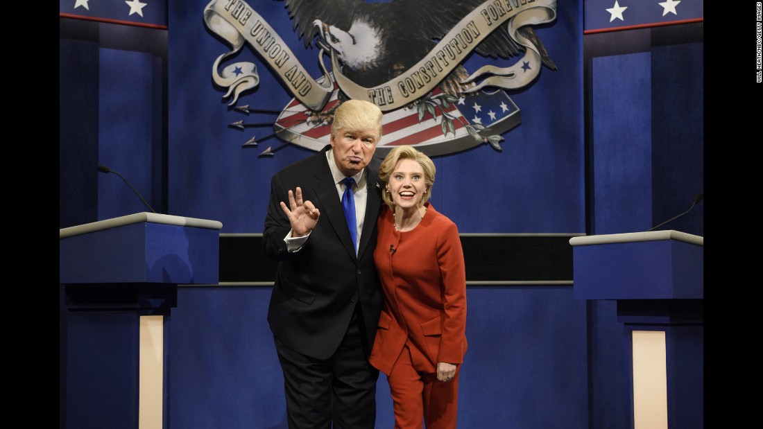 "Alec Baldwin plays Donald Trump and Kate McKinnon plays Hillary Clinton in a ""Saturday Night Live"" skit in October. The two <a href=""http://money.cnn.com/2016/11/06/media/snl-final-pre-election-episode/"" target=""_blank"">appeared together often</a> as Election Day drew closer."