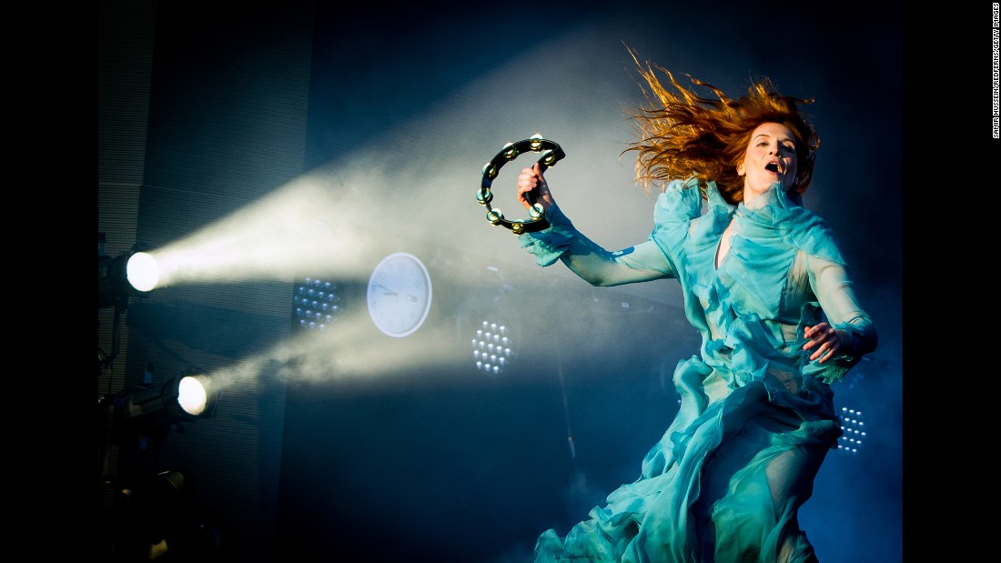 Florence Welch, of the band Florence and the Machine, performs at a festival in London's Hyde Park on Saturday, July 2.