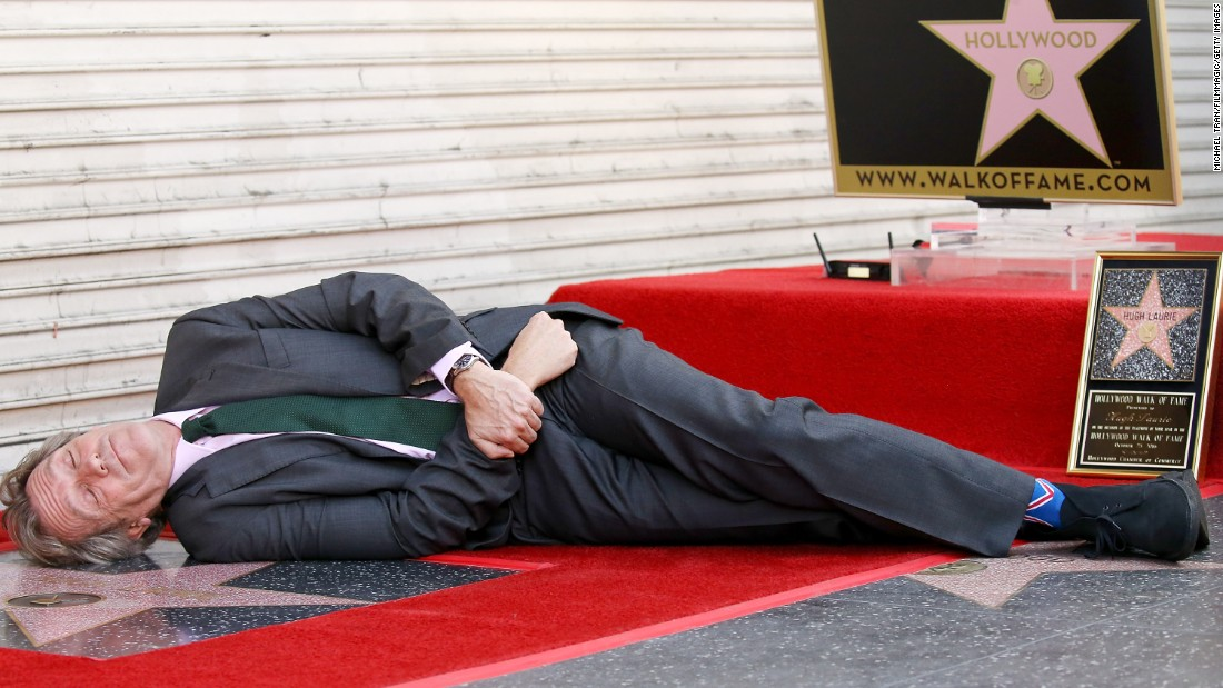 Actor Hugh Laurie attends the ceremony honoring him with a star on the Hollywood Walk of Fame on Tuesday, October 25.