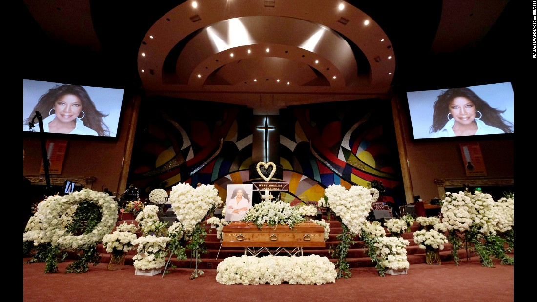 "A <a href=""http://www.cnn.com/2016/01/11/entertainment/natalie-cole-funeral/"" target=""_blank"">memorial service</a> is held in Los Angeles for Grammy-winning singer Natalie Cole on Monday, January 11. The singer died on New Year's Eve at the age of 65."