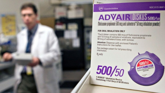 The asthma treatment Advair was the second most-prescribed branded drug, with 13,579,022 prescriptions written in 2014-15.