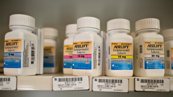 The anti-psychotic Abilify is prescribed to treat conditions including schizophrenia, bipolar disorder and depression. It was the 10th most-prescribed branded drug in America, with 8,301,207 prescriptions.
