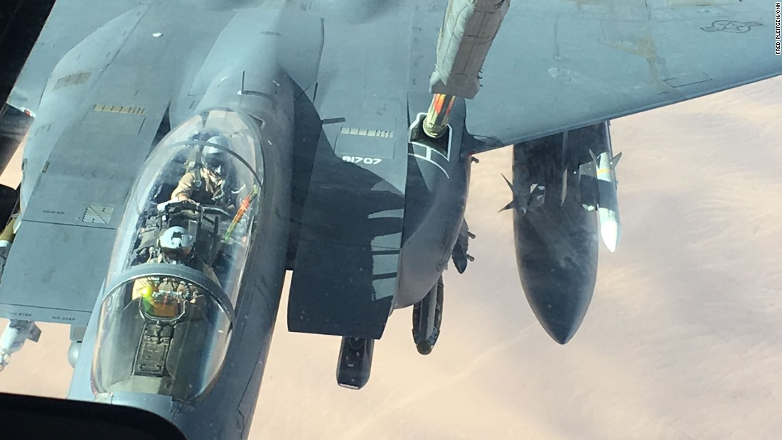 The KC 10's refueling boom operator, Staff Sgt. Uriel Escamilla, is responsible for helping the jets hook up to the tanker.